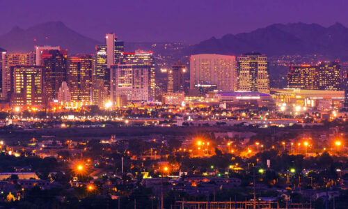 Phoenix Arizona Skyline:phoenix,arizona,united states,city,skyline,usa,downtown,cityscape,urban,homes,home,metro,night,metropolitan,moon,landscape,scenery,scenic,mountains,buildings,arena,residential,tower,towers,skyscrapers,city center,dark,light,illumination,illuminated,place,destination,horizon,horizontal,mountains,land,desert,south,southern