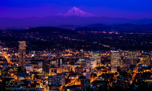 My wife, son and I visited Portland, Oregon for the first time over Thanksgiving. I came away with this photo from Pittock Mansion at sunset. I love this city!